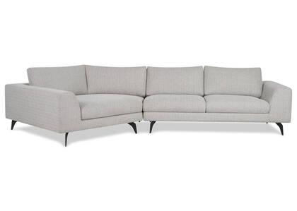 Canapé d'angle Altamira -Mina colombe, g