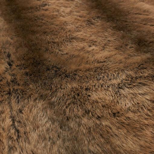 Fauna Faux Fur Throw Sable