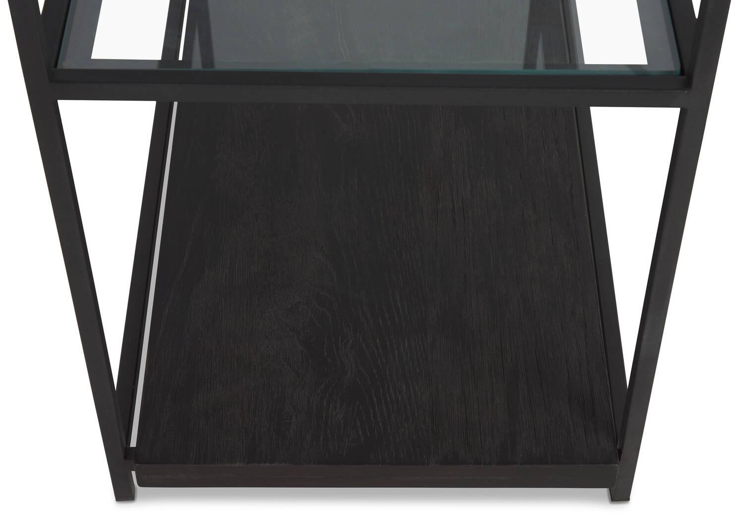 Axl Display Shelf -Black Oak