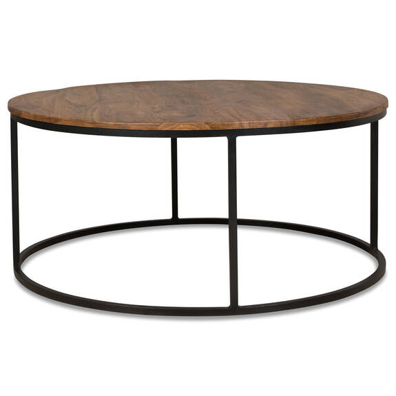 Table basse ronde Crosby -sheesham