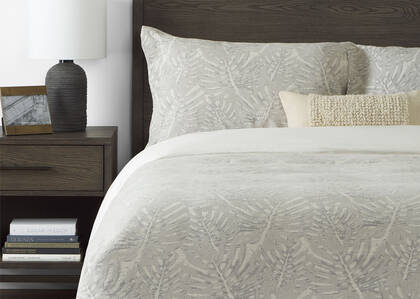 Martinique Duvet Set - Natural/Grey