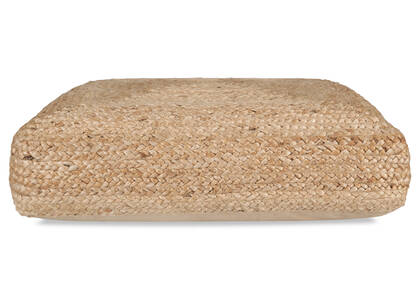 Ramirez Square Jute Floor Cushion Nat.