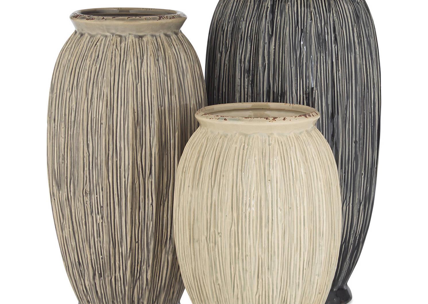 Kyndra Vase Small Pebble