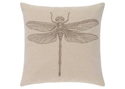 Entomology Toss 20x20 Linen/Bronze
