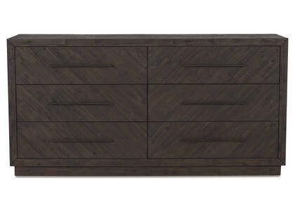 Mayhew 6 Drawer Dresser -Shay Carob