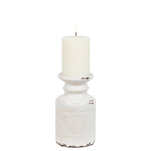 Tyree Candle Holders - White