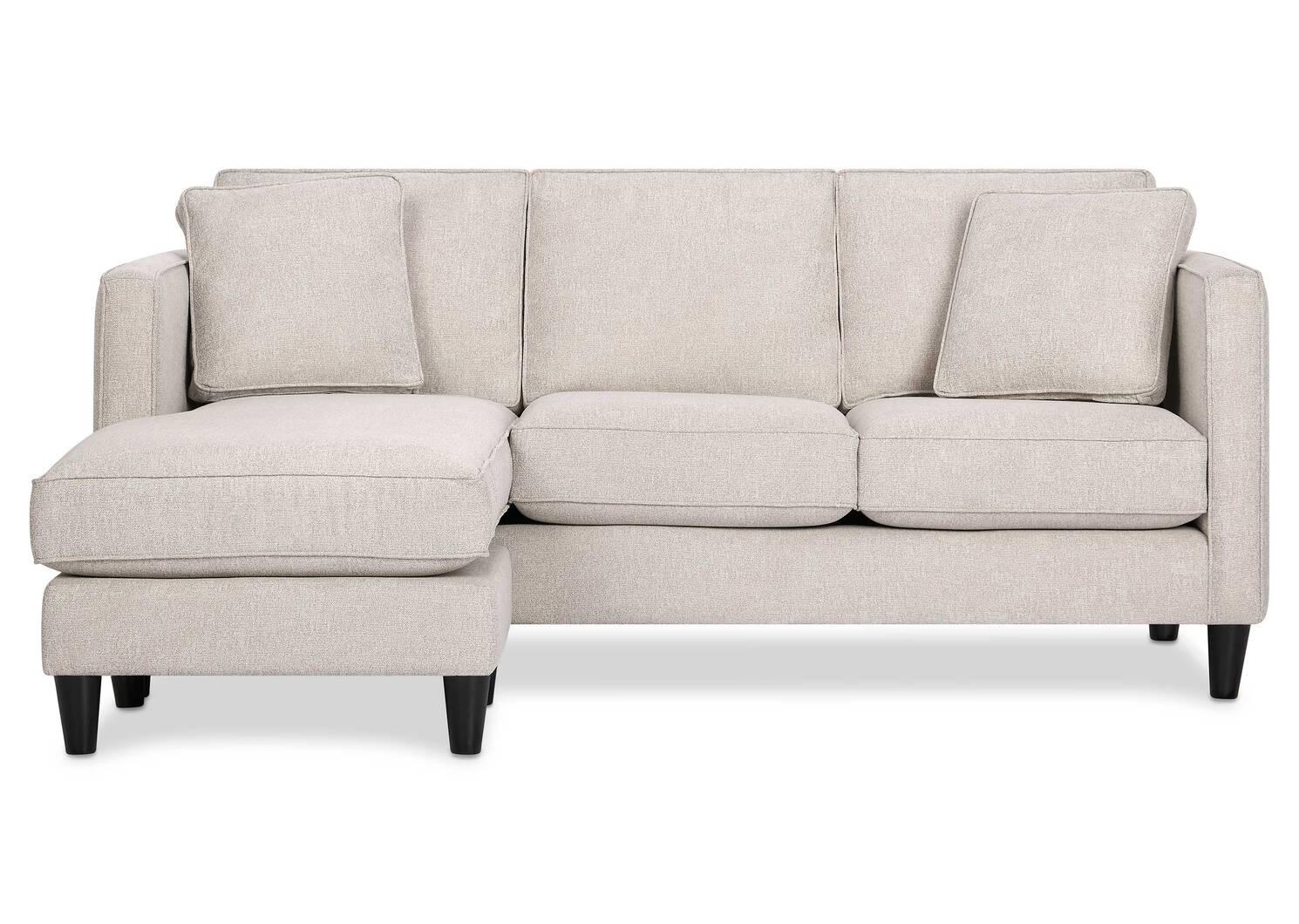 Lure Sofa Chaise -Aiden Platinum
