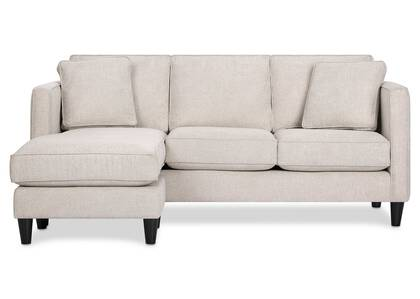 Lure Sofa Chaise -Aiden Platinum
