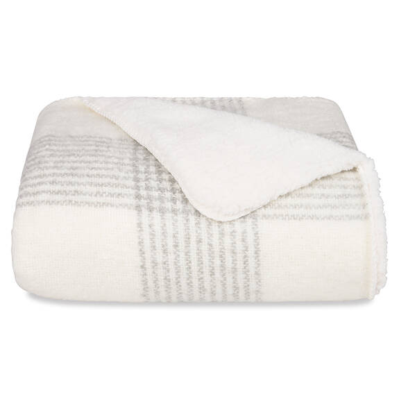 Becca Sherpa Throw Cream