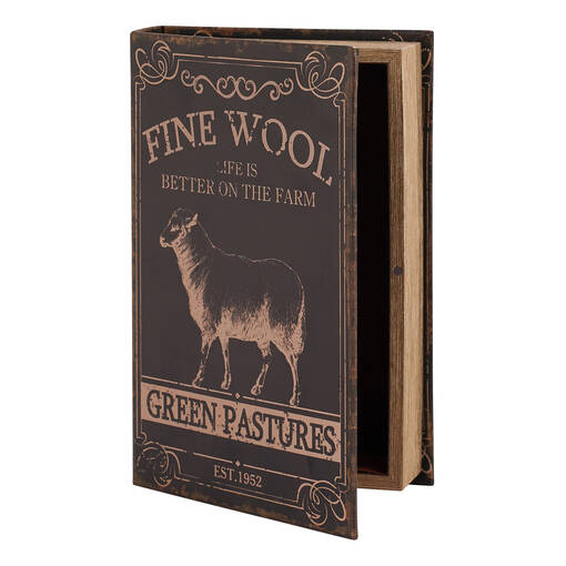 Green Pastures Book Box Medium Black