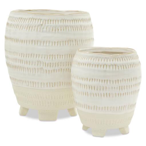 Cache-pots Rylee ivoire