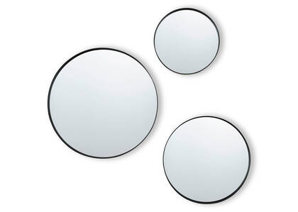 Frances Wall Mirror Set Black