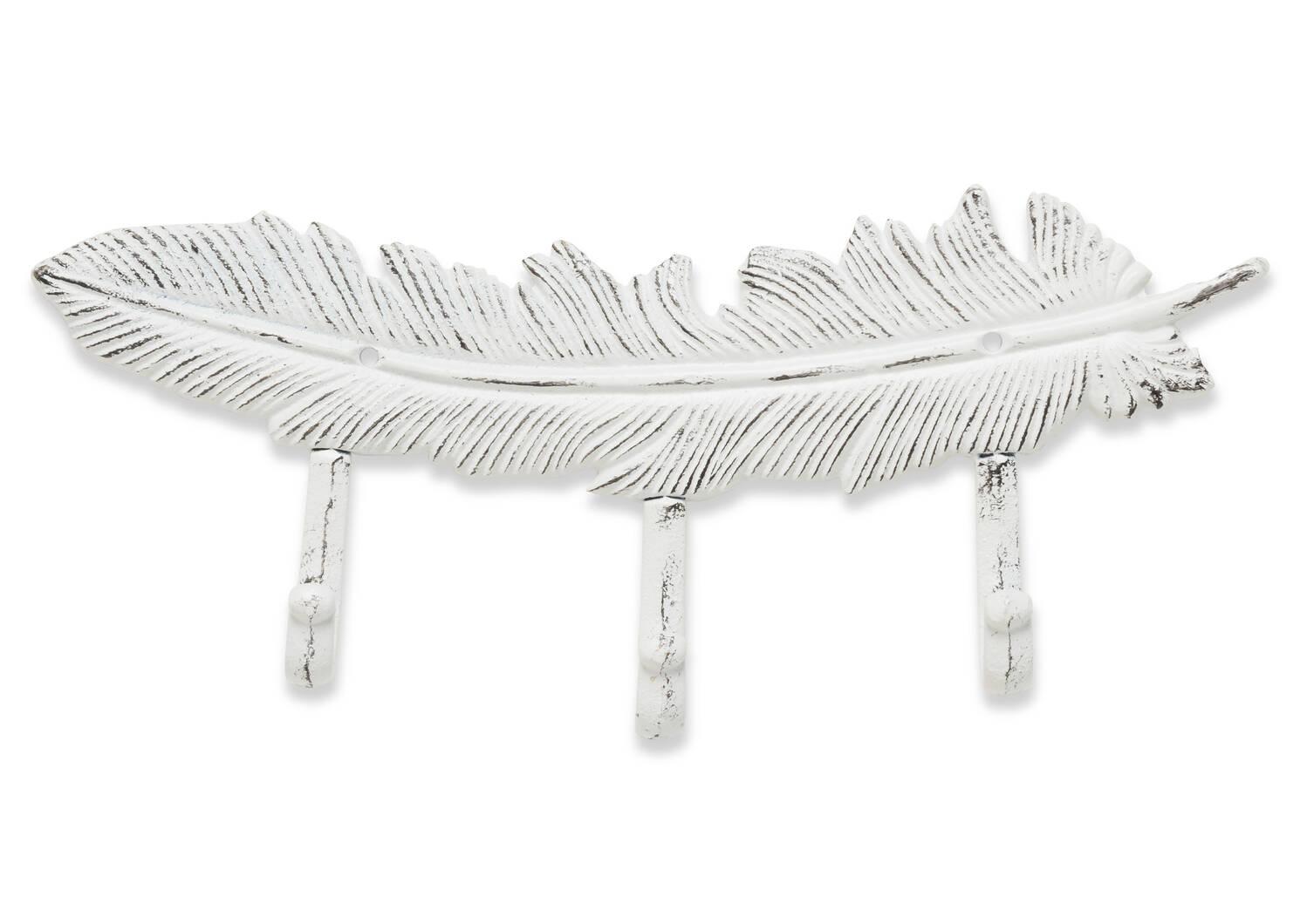 Crochet mural Ruffled Feather blanc
