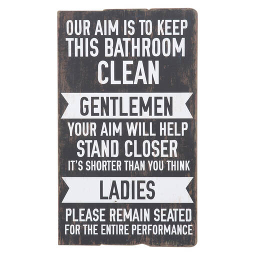 Keep It Clean Wall Plaque