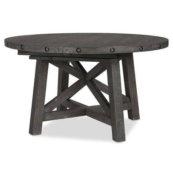 Ironside Ext Dining Table Rnd -Smoke