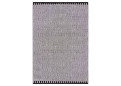 Tapis zigzag Matira – noirs/ivoire