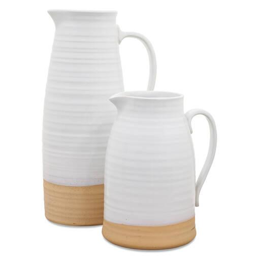 Lois Pitcher Vases-White