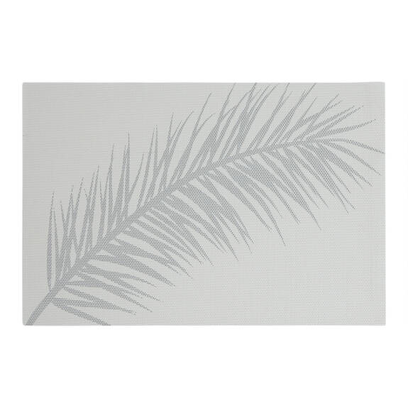 Plume Placemat White/Silver