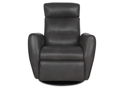 Bennett Leather Recliner -Sol Slate