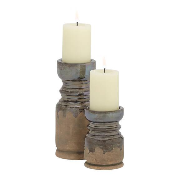 Margo Candle Holders - Pewter