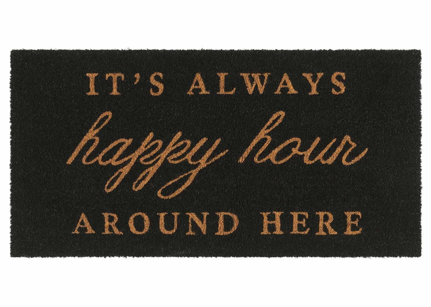 Happy Hour Doormat Grey