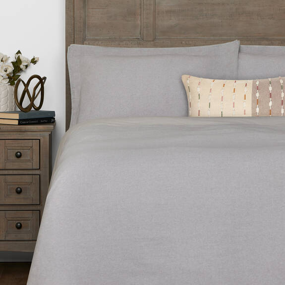Palmas Duvet Set - Light Grey