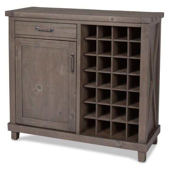Cabinet à vin Ironside -gris rustique