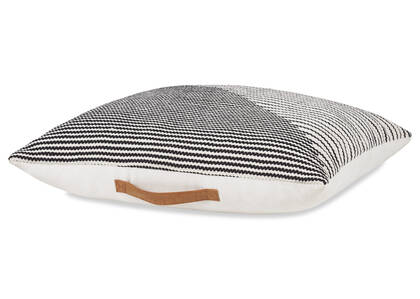 Bouvier Floor Cushion Black/White