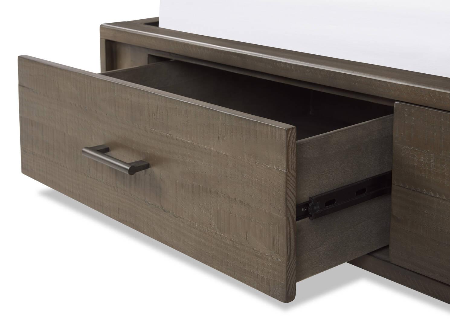 Macklin Storage Bed -Kirun Stone, QUEEN