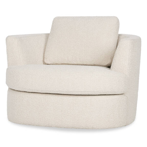 Beverly Swivel Chair-Amalie Ivory