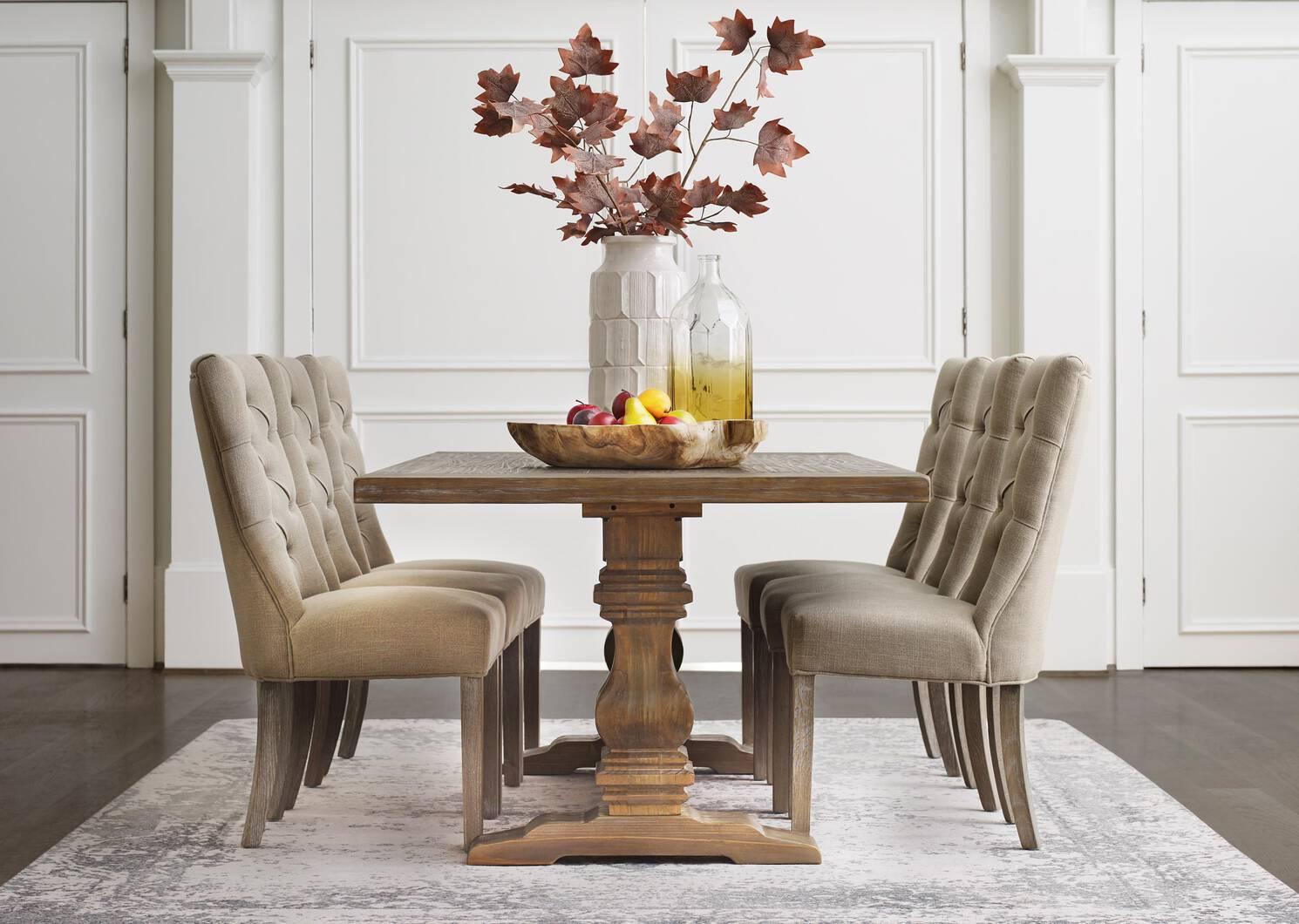 Oakwood Dining Chair -Nantucket Linen