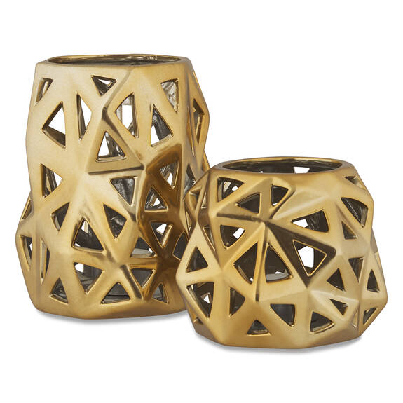 Anais Tealight Holders - Brass