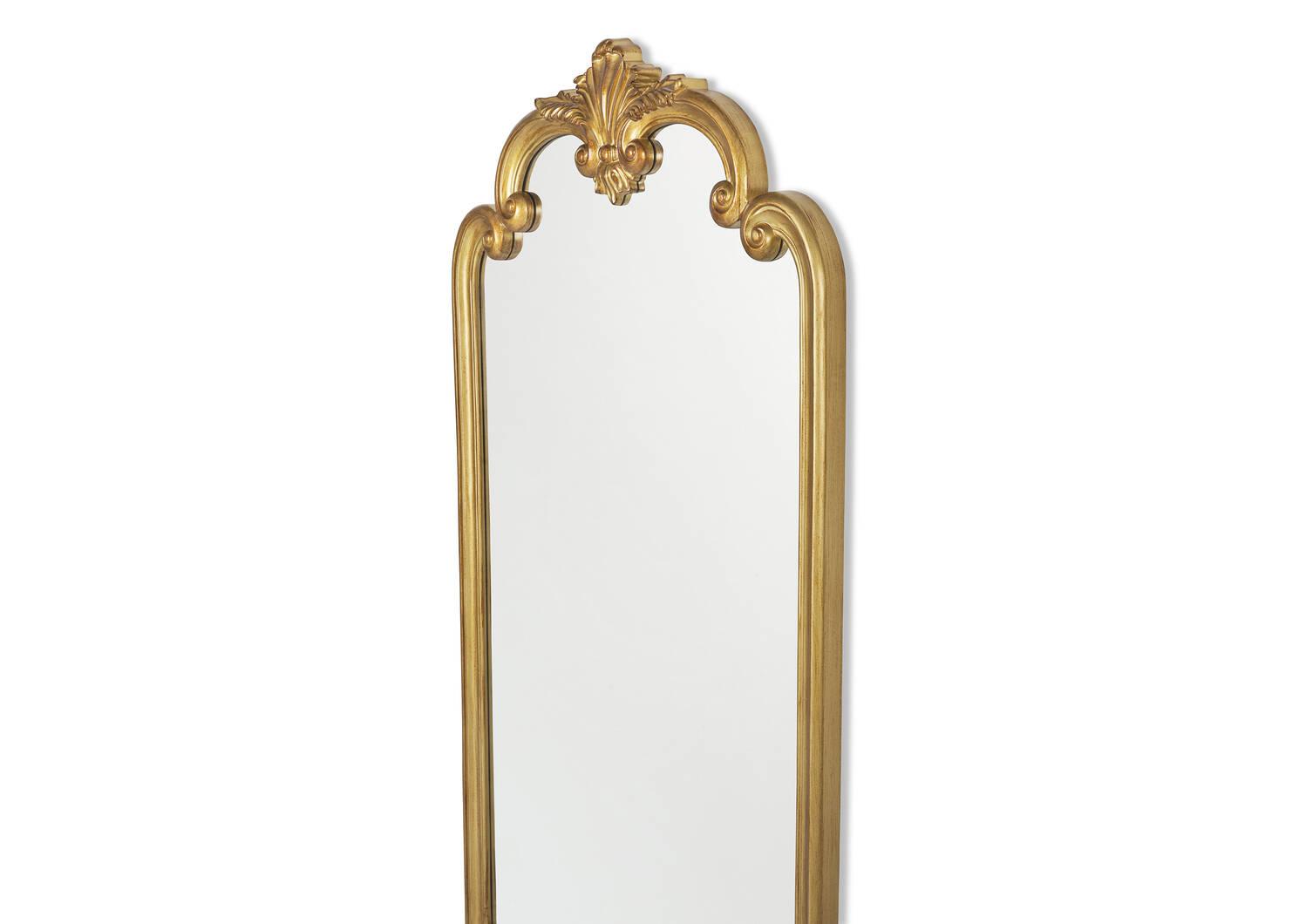 Paige Leaner Mirror Brass
