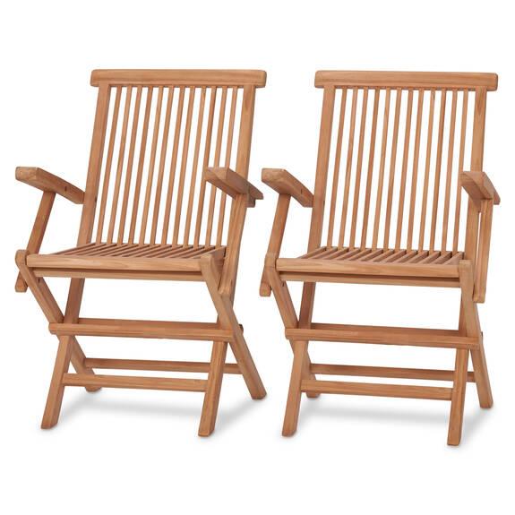 Deux chaises à acc Galiano -teck naturel