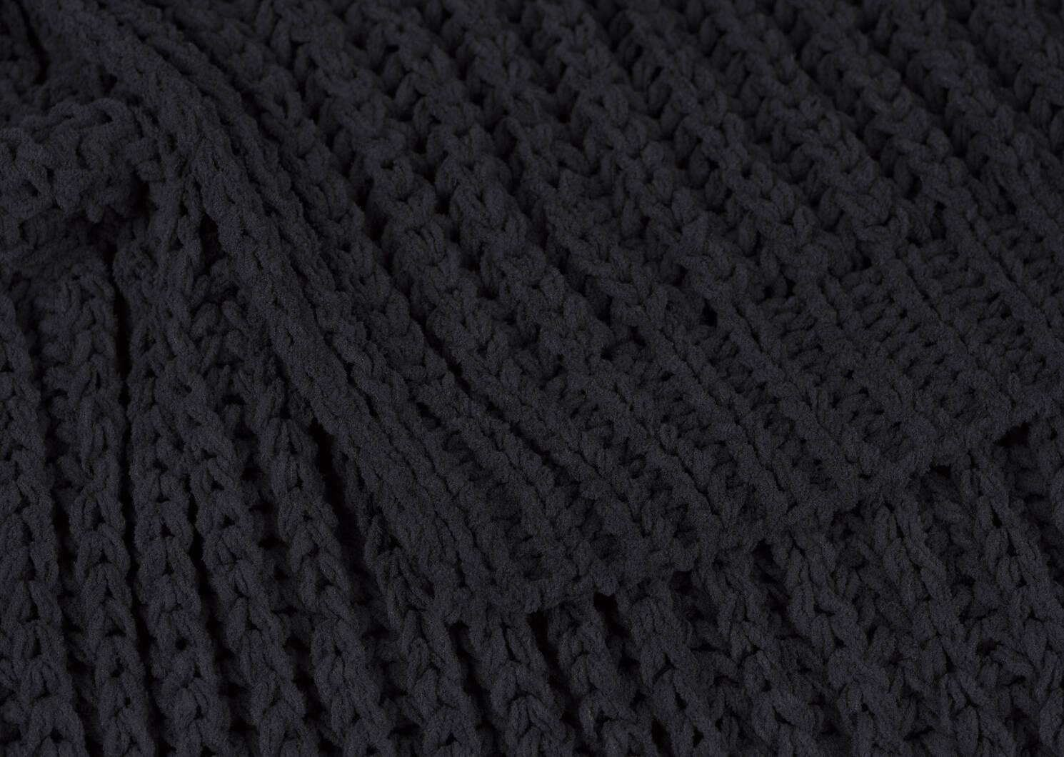 Cavendish Chenille Throw Black