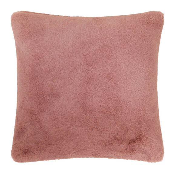 Coussin f.fourr Flora 20x20 rose ball.