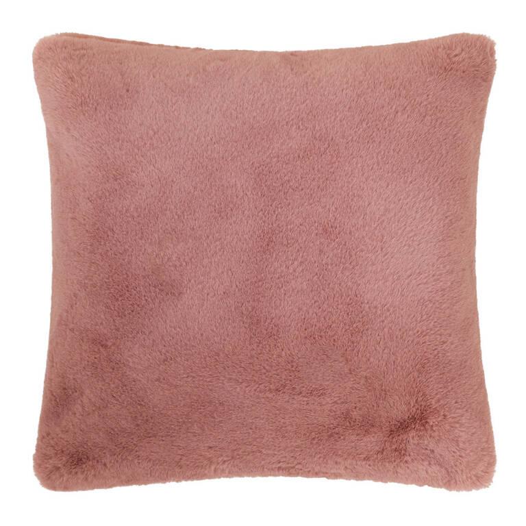 Flora Faux Fur Toss 20x20 Ballet Pink