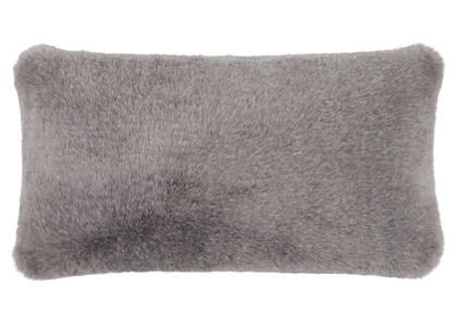 Ashcroft Faux Fur Toss 12x22 Ash