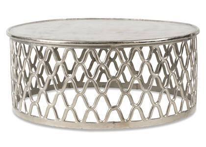 Ashbury Coffee Table -Raw Nickel