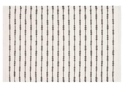 Tapis décoratifs rayés Rivera -naturels/gris