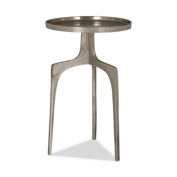"Saylish Accent Table 25"" -Raw Nickel"