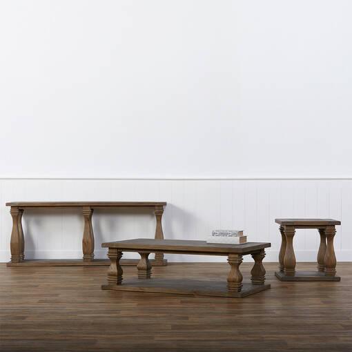 Sussex Console Table -Brulé Pine