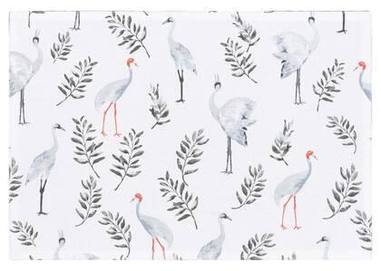 Napperon Crane blanc/gris