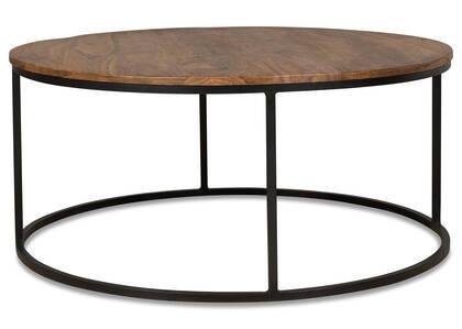 Crosby Round Coffee Table -Sheesham Copp