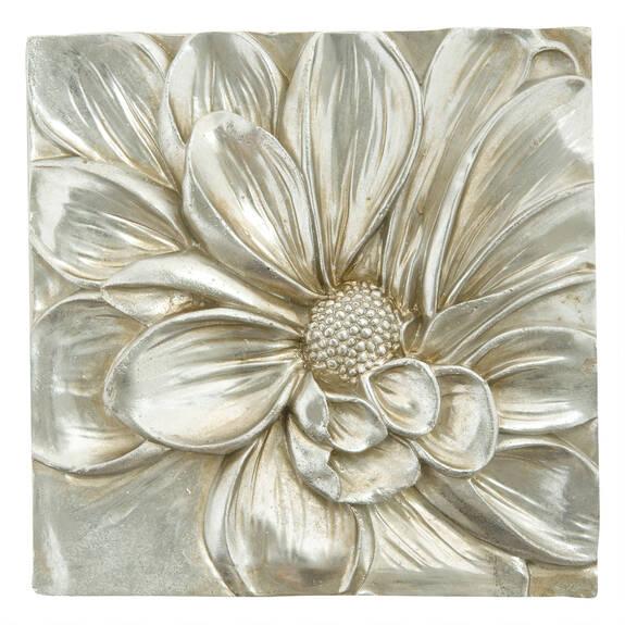 Petalis Med Wall Tile Silver