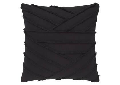 Odessa Fringe Toss 20x20 Black