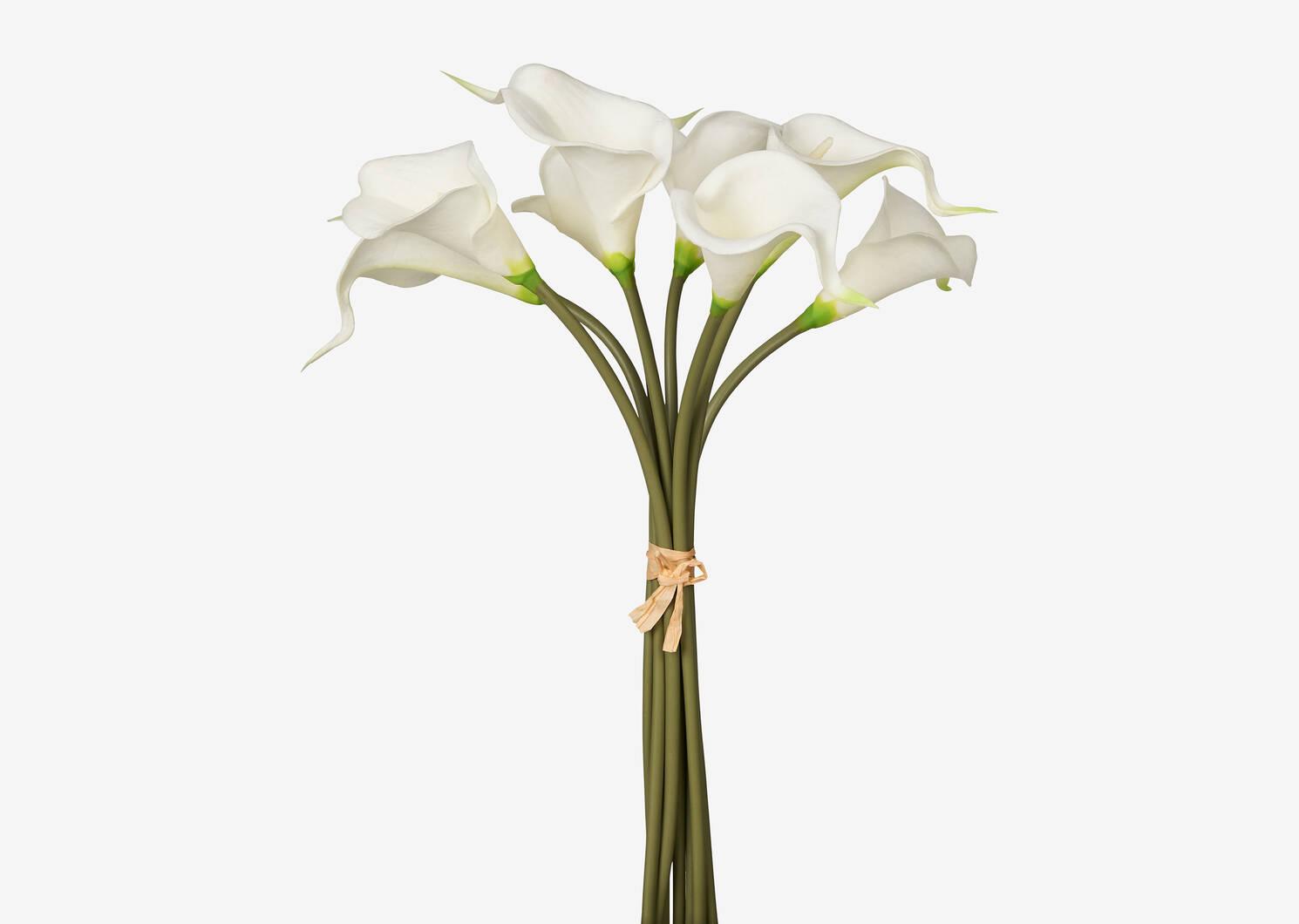 Bouquet de lis Berdine blancs