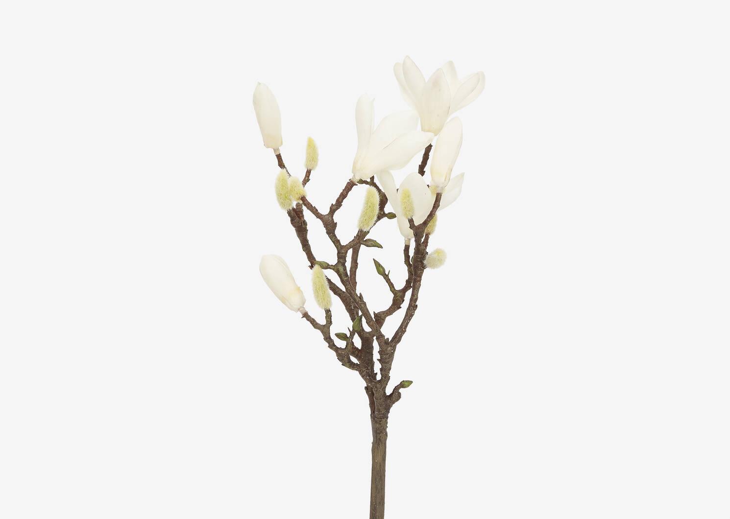 Tige de fleur Norah blanche