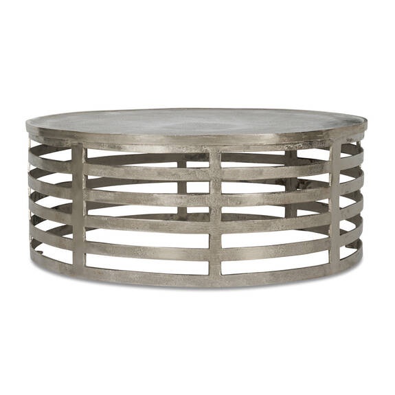Hector Coffee Table -Raw Nickel