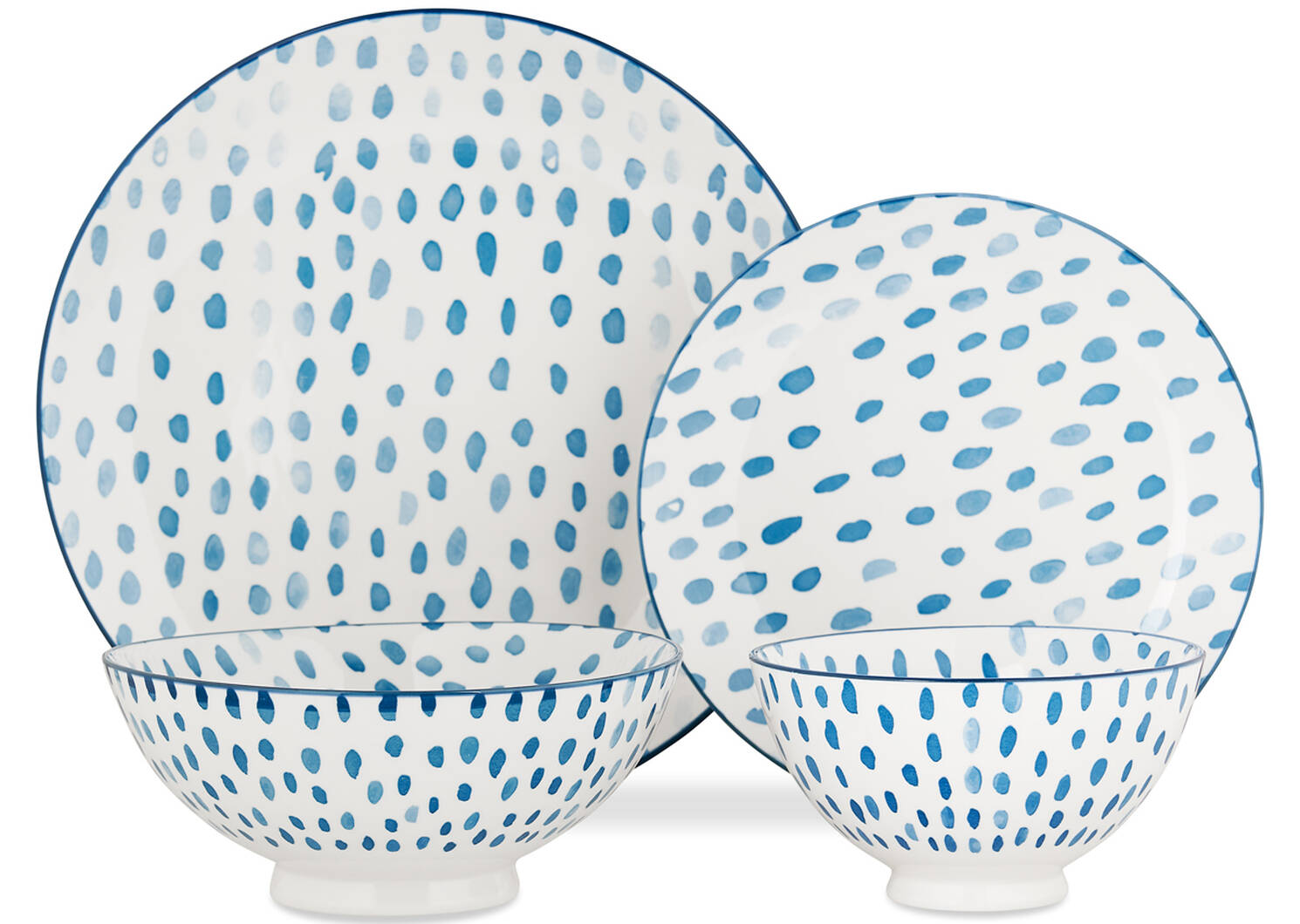 Linney 16 pc Dish Set Blue